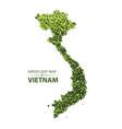 green leaf map of vietnam vector image