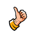 hand showing thumbs up symbol vector image