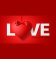happy valentines day greeting card design word vector image vector image