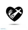 heart black icon love symbol silhouette vector image