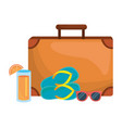 isolated suitcase and travel design vector image