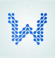 letter w logo halftone icon vector image vector image