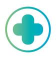 line cross medical symbol design vector image vector image