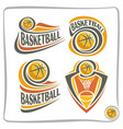 logo basketball ball vector image
