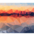 Low Poly geometric abstract backgroud for brochure vector image vector image