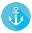 Marine Anchor Circle Icon vector image