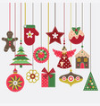 merry christmas card with vintage felt decoration vector image vector image