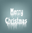 merry christmas icicles text vector image vector image