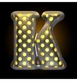 metal with glow dots figure k vector image vector image