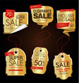 modern labels badges and tags golden vector image vector image