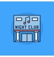 Night Club building flat icon vector image