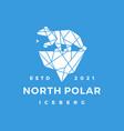 north star polar bear ice berg geometric vector image vector image