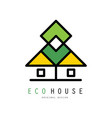 original logo with abstract eco house vector image vector image