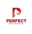 perfect horse business logo designs simple modern vector image