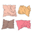 pillows colored vector image vector image