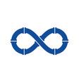 plumbing infinity logo icon design vector image