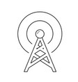 radio antenna line icon vector image