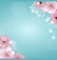 realistic beautiful 3d sprind and summer pink vector image