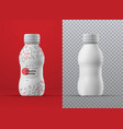 realistic mockup white plastic curly bottle vector image