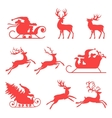 reindeer and santa claus the best element vector image vector image