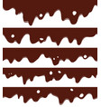 seamless liquid chocolate borders vector image