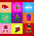 set of christmas accessories isolated on vector image vector image