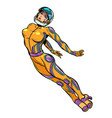 sexy woman astronaut super hero strong lady vector image vector image