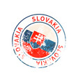 slovakia sign vintage grunge imprint with flag on vector image vector image