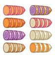 sweet potatoes slices vector image