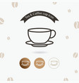 tea cup icon vector image vector image