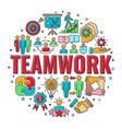 teamwork collaboration banner vector image