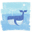 whale and sea abstract sea vector image