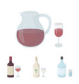 white wine red wine gin sangriaalcohol set vector image vector image