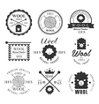Wool labels and elements Stickers emblems vector image