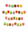 words autumn september october novtember vector image