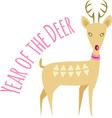 Year Of Deer vector image vector image