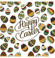 happy easter unique lettering poster vector image