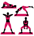 young woman doing exercises for firm buttocks vector image