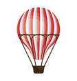 Hot air balloon cartoon design icon vector image
