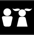 boy and girl it is icon vector image