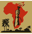 Africa is fighting for freedom vector image vector image