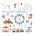 amusement park attractions and big top circus ice vector image