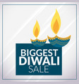 biggest diwali sale promotional banner template vector image vector image