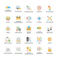 bitcoin and cryptocurrency icons set vector image