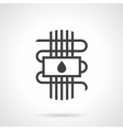 Black style icon water warm floor vector image