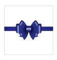 blue ribbon bow 01 vector image vector image