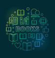 books round colorful outline concept vector image vector image