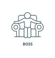 boss line icon boss outline sign concept vector image vector image