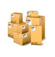 Cardboard boxes isolated on white vector image vector image