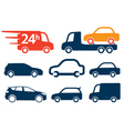 Cars profiles vector image vector image